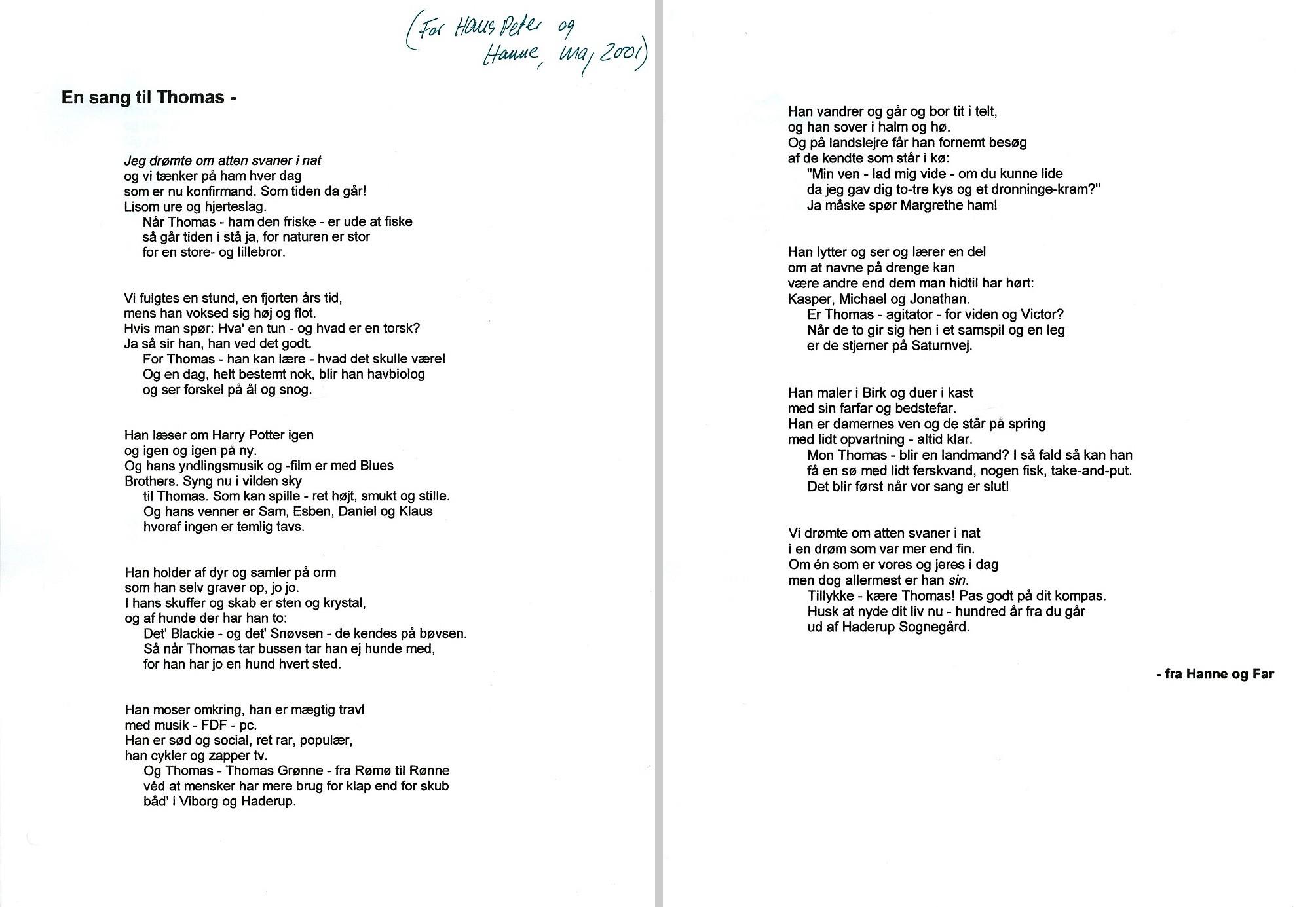 20 års fødselsdag digt