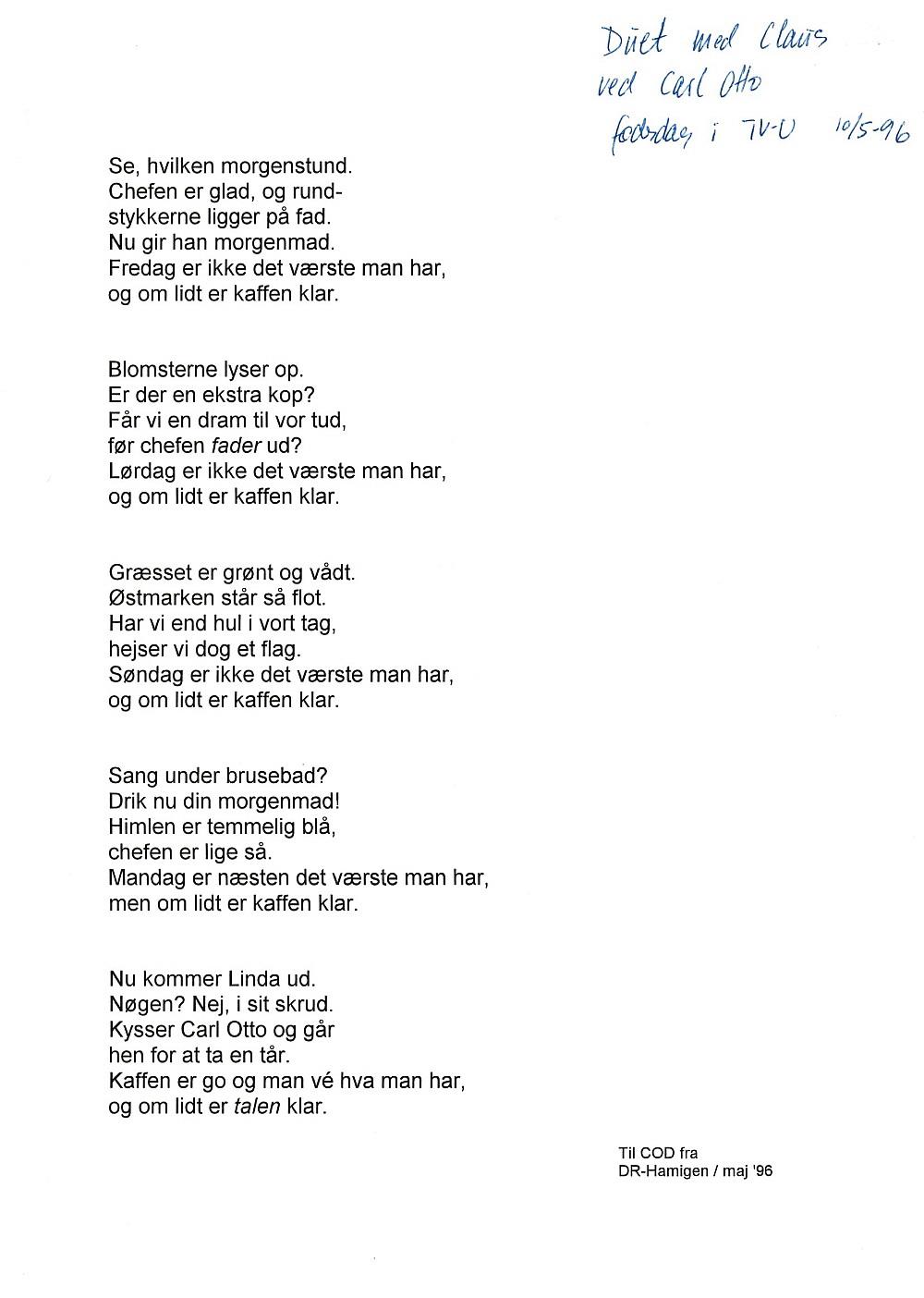50 års fest rim Hamigens egne fest  og lejlighedssange 50 års fest rim